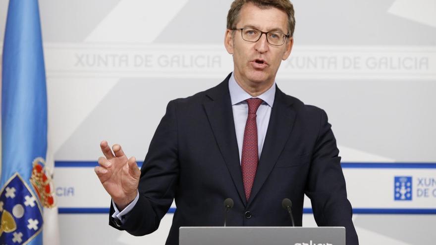 Feijóo, tras presidir el pasado jueves la reunión semanal del Consello da Xunta