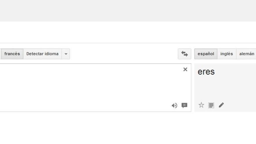 Error en la traducción de Google Translate