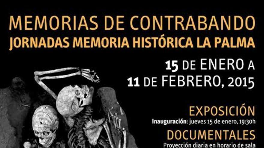 Cartel de las jornadas dedicadas a la Memoria Histórica.