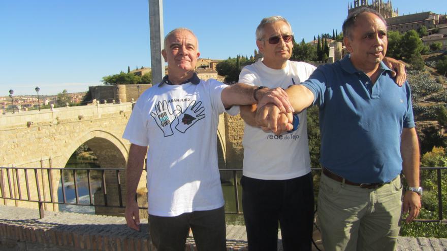 Los portavoces de las plataformas en defensa del Tajo, de Aranjuez, Toledo y Talavera.