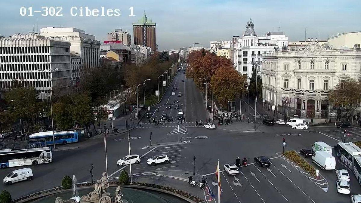 La capa de polución vista desde Cibeles | AYUNTAMIENTO DE MADRID