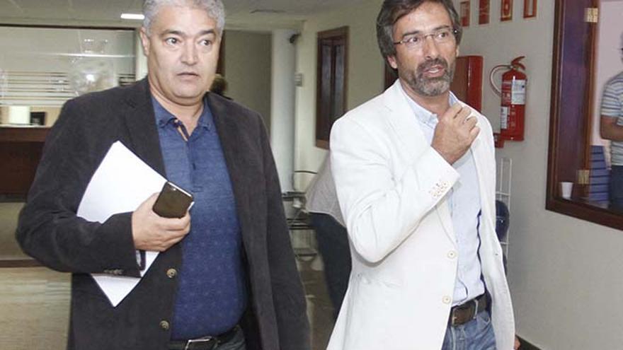 El vicepresidente José Juan Cruz y el presidente Pedro San Ginés, este miércoles.