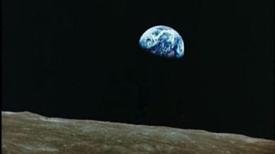 Vista de la Tierra desde la Luna. (EUROPA PRESS)