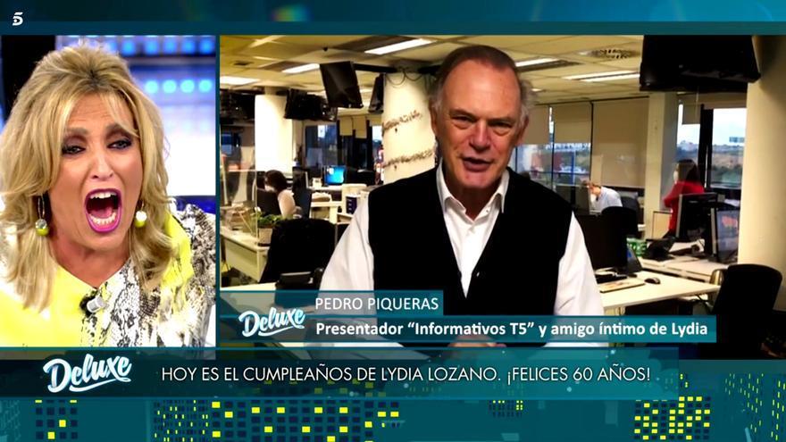 Lydia Lozano enloquece con la felicitación de Pedro Piqueras por su cumpleaños