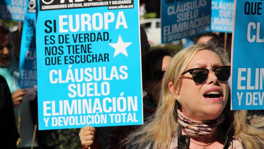 Manifestación contra los abusos bancarios.