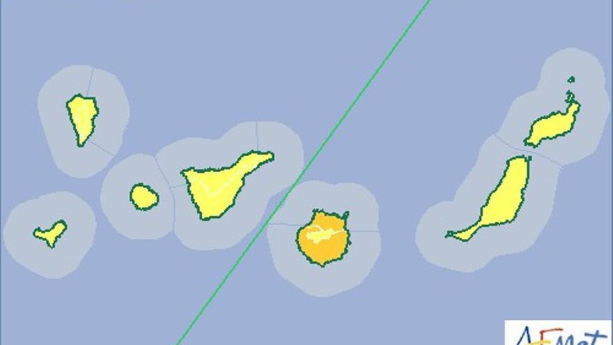 Alerta de calor en Canarias (AEMET)