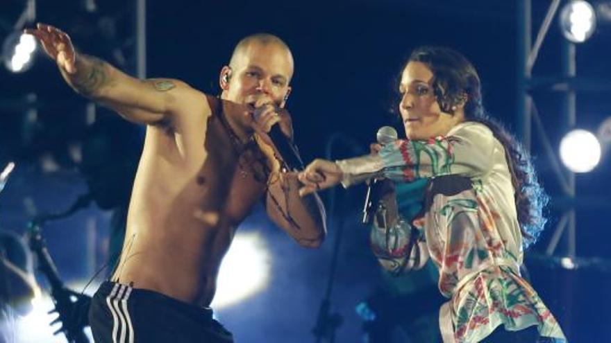 "iLe y su hermano René Pérez ""Residente"", de Calle 13"