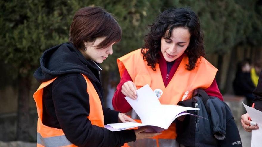 Participantes del proyecto Cien Pies de educación vial.