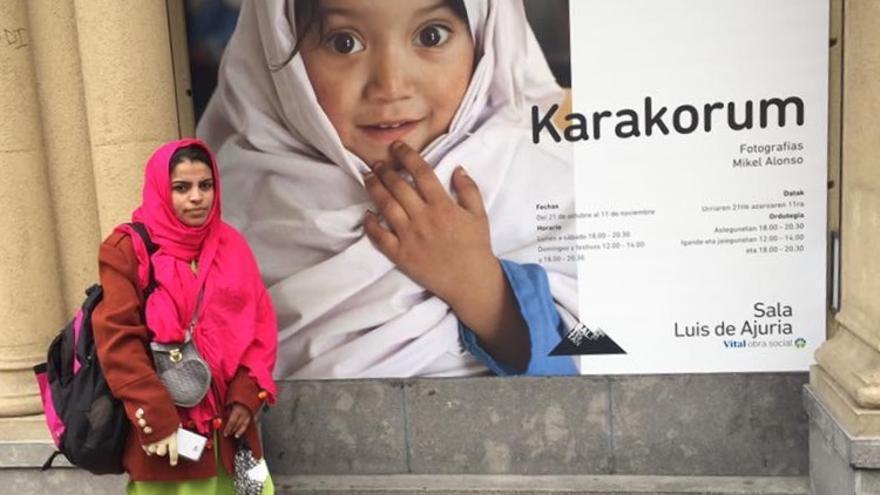 Aniqa Bano, profesora en una escuela para personas sordas en el norte de Paquistán.