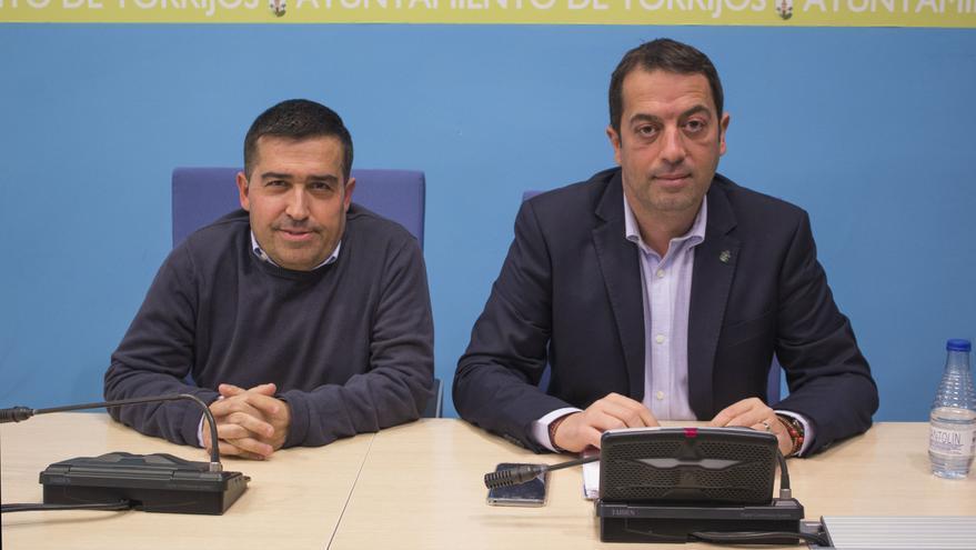 El alcalde, Anastasio Arevalillo, a la derecha