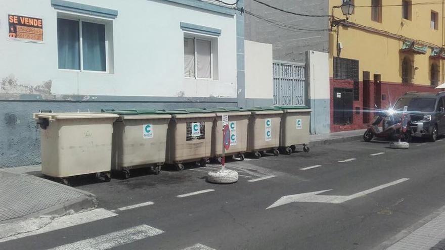Contenedores de basura en Arguineguín