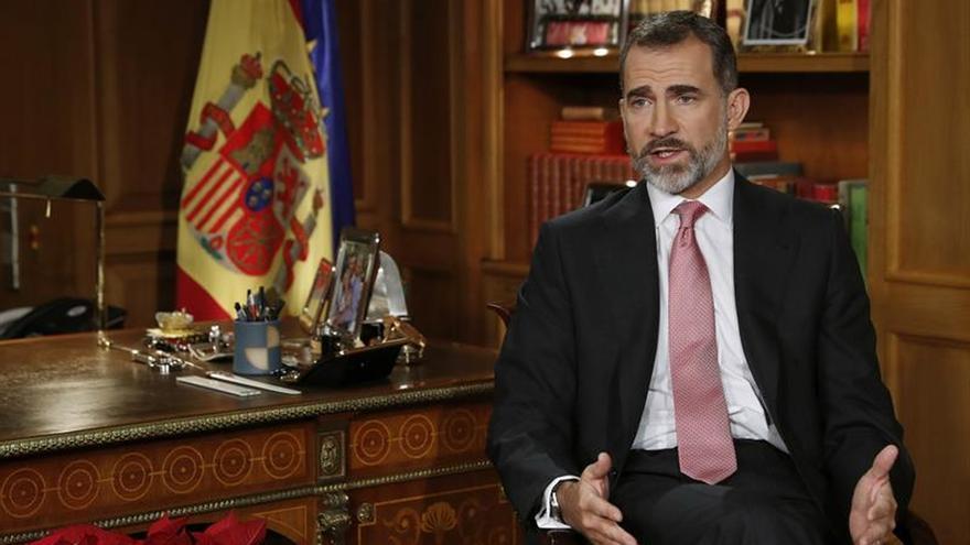 """El Rey pide unidad y respeto a la ley en vez de """"divisiones internas"""""""