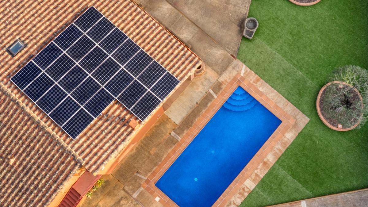 Una instalación solar.
