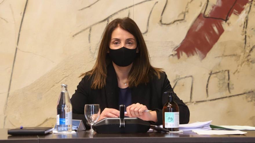 La consellera Meritxell Budó en la reunión del Consell Executiu del 16 de marzo.