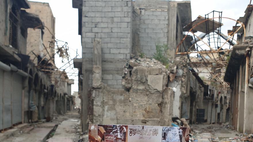 Imagen del mercado de oro en Mosul, destruido durante la ofensiva contra ISIS