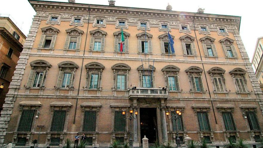 Palacio Madama, sede del Senado de la República Italiana, en Roma.