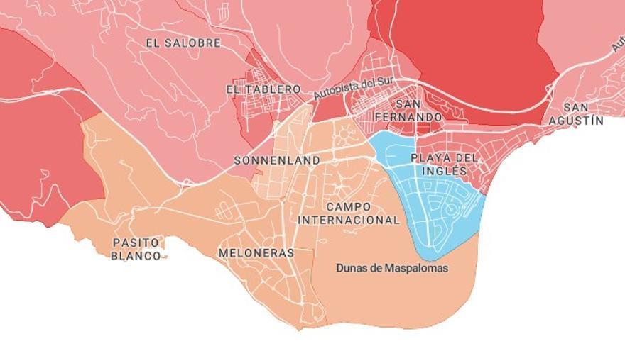 Ciudadanos ganó en tres secciones censales del sur de Gran Canaria.