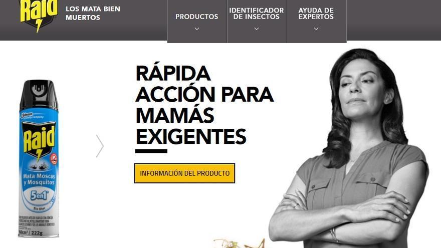 Eslogan de Raid en Argentina.