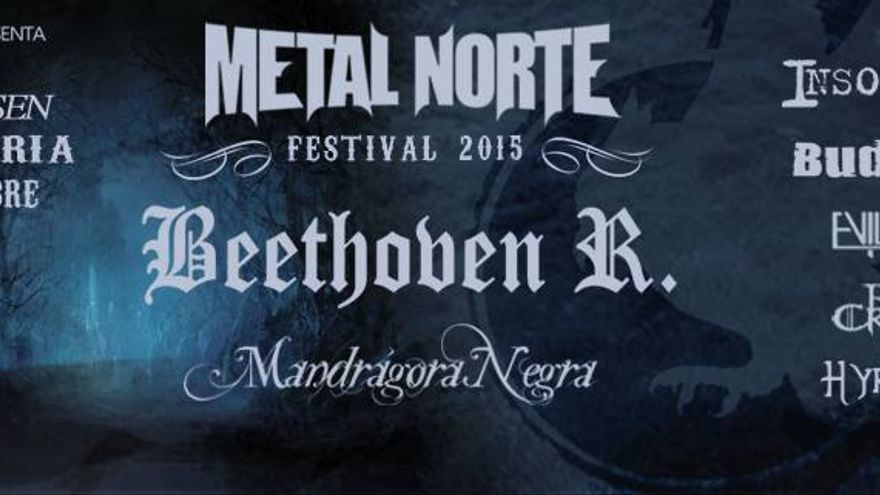 Cartel del festival 'Metalnorte'.