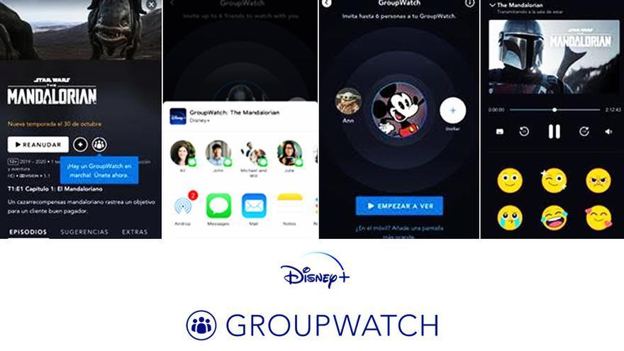 Así luce la función GroupWatch de Disney+