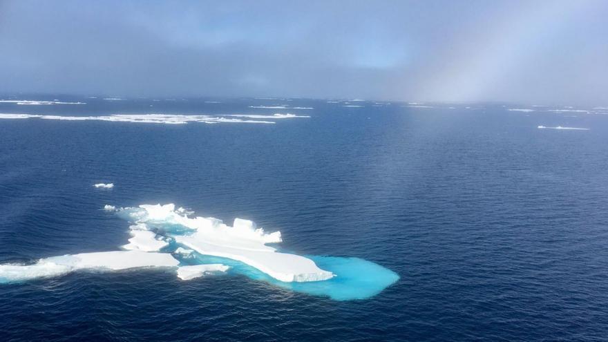 Restos de hielo viejo flotando en el Ártico en agosto de 2018 / Julienne Stroeve-NSIDC