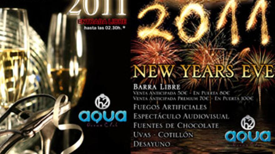 Dos fiestas para recibir el año en Aqua Ocean Club