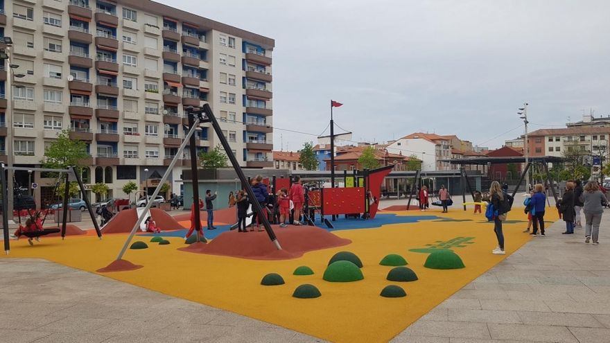 Plaza de La llama, sobre el aparcamiento subterráneo. | AYUNTAMIENTO DE TORRELAVEGA