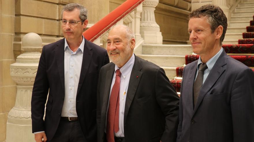 Olano traslada la iniciativa Etorkizuna Eraikiz al Nobel de Economía Joseph Stiglitz