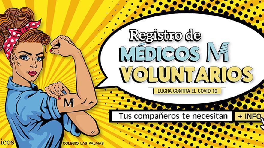 Cartel del Colegio de Médicos de Las Palmas.