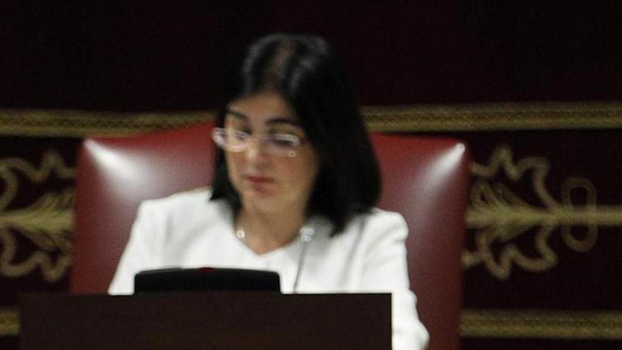 El presidente de Asamblea Socialista Gomera, Casimiro Curbelo, durante la segunda jornada del Debate sobre el Estado de la Nacionalidad.