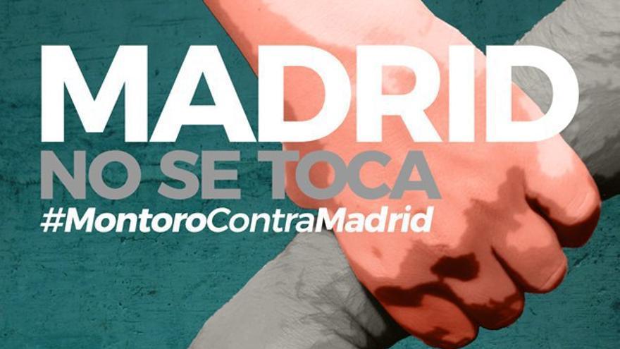 Cartel de la Plataforma Madrid No Te Cortes