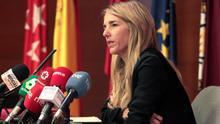 La portavoz del PP en el Congreso, Cayetana Álvarez de Toledo durante una conferencia pronunciada en la Universidad Carlos III de Madrid este miércoles