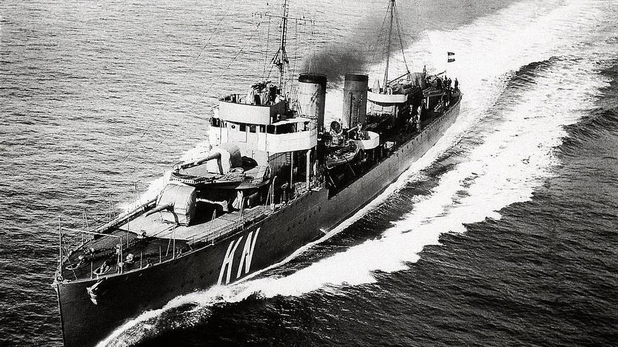 HNLMS Kortenaer, hundido durante la Batalla en el mar de Java en 1942. Royal Netherlands Navy / Koninklijke Marine / Wikipedia