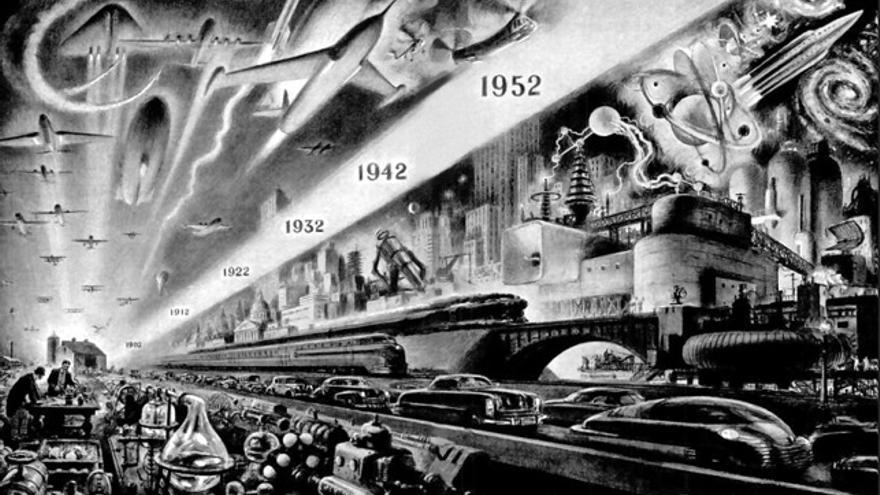 Ilustración de Alexander Leydenfrost para la revista Popular Mechanics de enero de 1952.