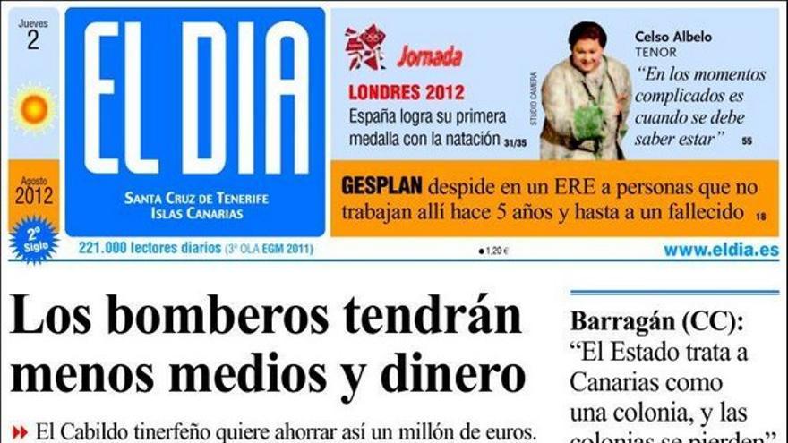 De las portadas del día (02/08/2012) #4