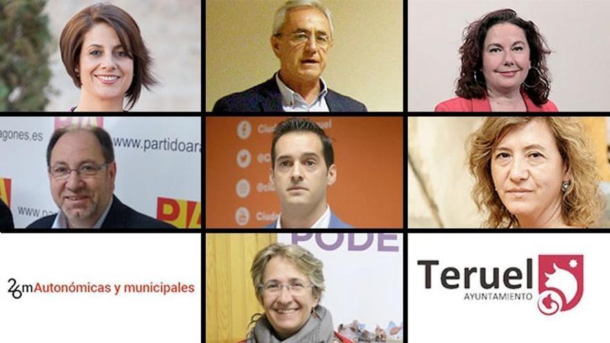 Candidatos y candidatas a la Alcaldía de Teruel
