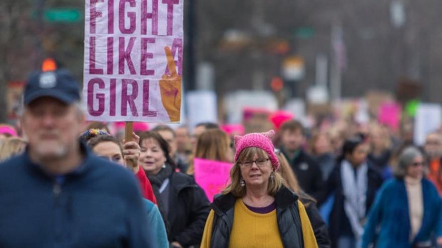 Marcha de mujeres, 21 de enero, Ann Arbor (Michigan). Autor: Matt Weigand