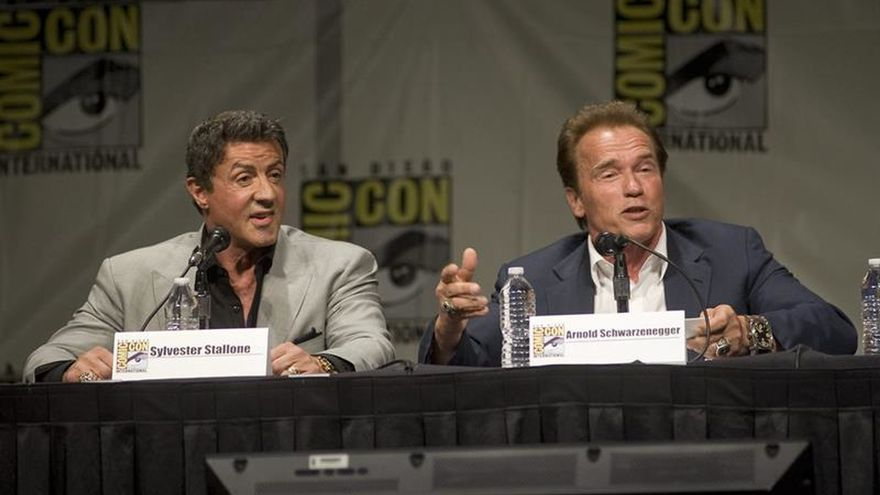 """Stallone y Schwarzenegger renuncian a cuarta parte de """"Los indestructibles"""""""