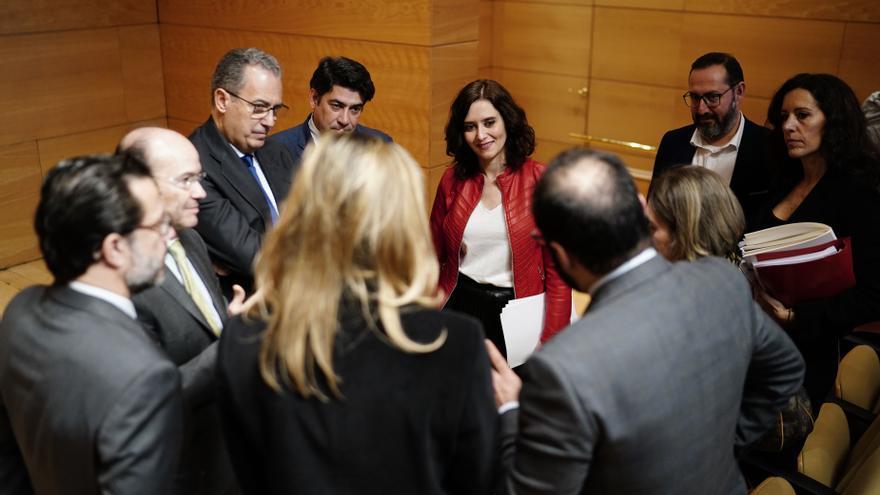 Isabel Díaz Ayuso con el equipo de Gobierno de la Comunidad de Madrid.