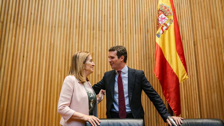 Casado anuncia que Ana Pastor será ministra si gobierna el PP como fue con Aznar y Rajoy