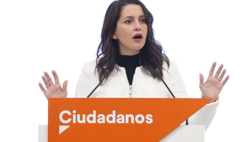 Inés Arrimadas, en la rueda de prensa posterior a la reunión de la dirección de Ciudadanos el 2 de enero.