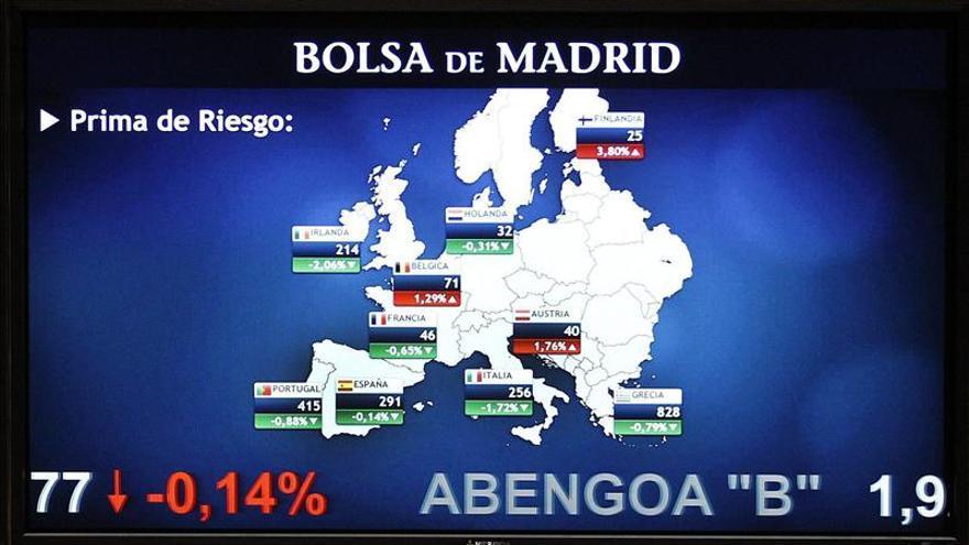 La prima de riesgo de España cae en la apertura a 284 puntos básicos
