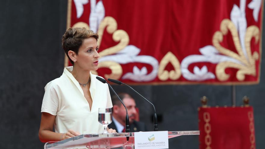 """Chivite pide que """"nadie tenga la tentación de usar a Navarra como herramienta política ni elemento de intercambio"""""""