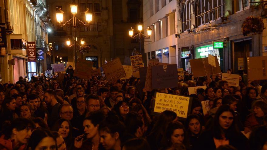 Manifestación del 8M de 2020 en la Calle Alfonso