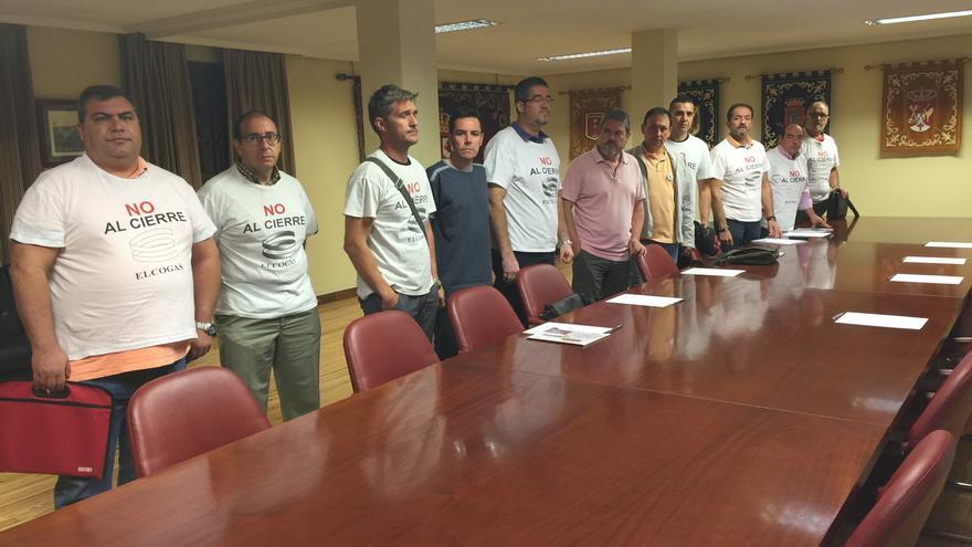 Representantes de Elcogas, en la Delegación del Gobierno de Castilla-La Mancha. / Foto: CCOO.