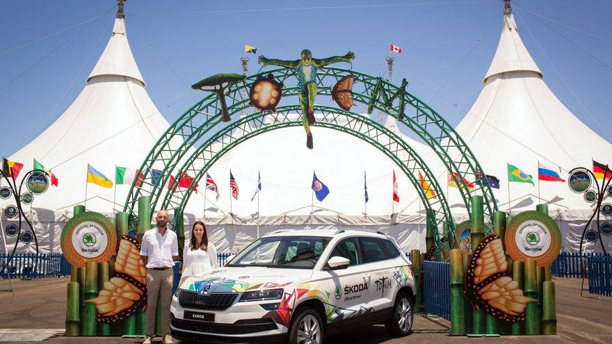 Cinco Škoda Fabia y dos Škoda Karoq fueron puestos a disposición del Cirque du Soleil para los desplazamientos de los artistas en Gran Canaria.
