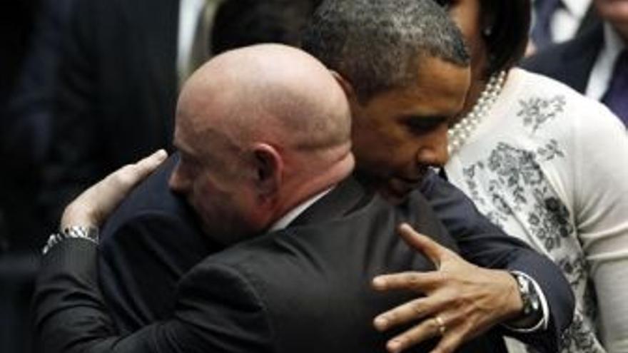 Barack Obama, durante el acto. (EUROPA PRESS)