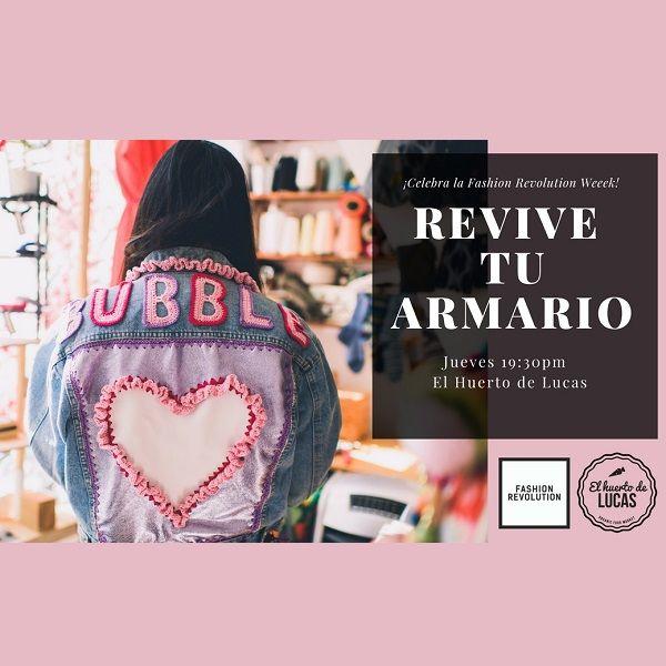 Cartel Fashion Revolution Week en El Huerto de Lucas