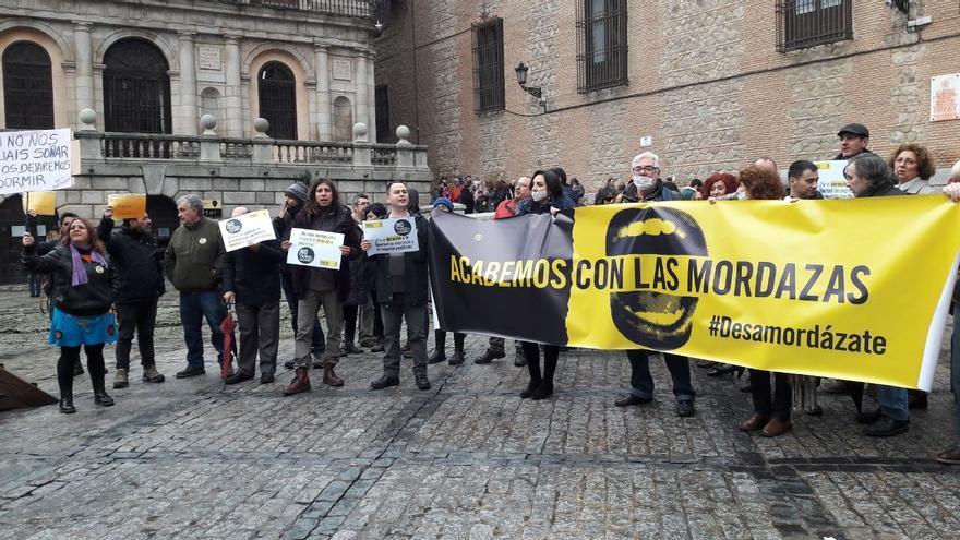 Protesta en la Plaza del Ayuntamiento de Toledo