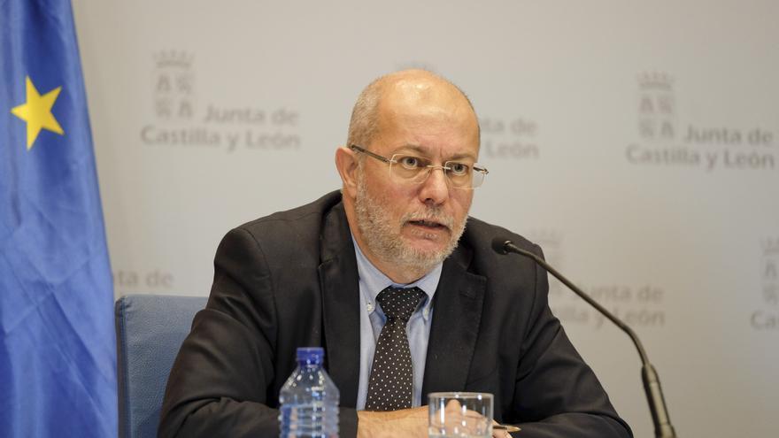 El vicepresidente y portavoz de la Junta de Castilla y León, Francisco Igea, en la rueda de prensa de este jueves.